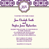 European Pattern Monogram Wedding Invitation