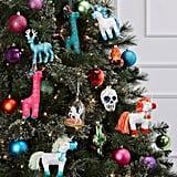 Glitter Reindeer Christmas Ornament