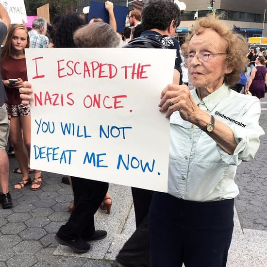 Holocaust Survivor Photo From Charlottesville Protest in NYC