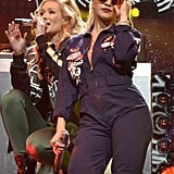 Rita Ora and Iggy Azalea heated up the Jingle Ball in Washington.