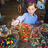 He loves candy . . .