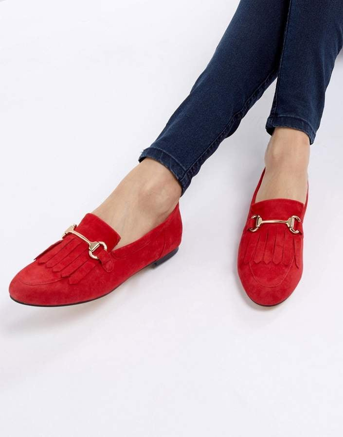Office Furious Fringed Flat Suede Loafers