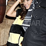 Beyoncé dressed as a bumblebee in NYC on Halloween.