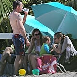 Robert Downey Jr. and his family hung out on the beach in St. Barts.