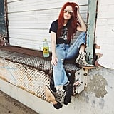 Play It Casual With a Rocker Tee and Boots