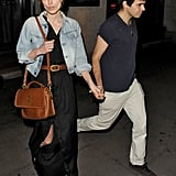 Keira Knightley and her fiancé, James Righton, were out and about in London to celebrate their new engagement.