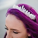 This Bride's Purple Hair and Crystal Tiara Give Us Ultimate Mermaid Vibes