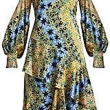 Peter Pilotto High-Neck Floral-Print Silk Dress