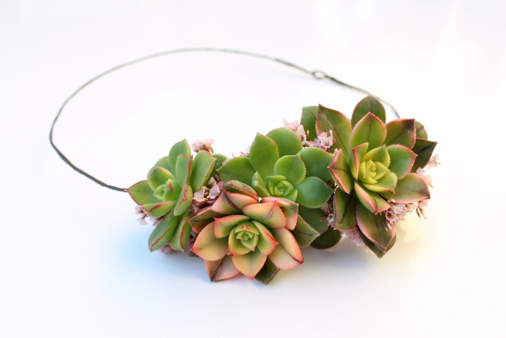 Succulent Wedding Hair Accessories From Etsy