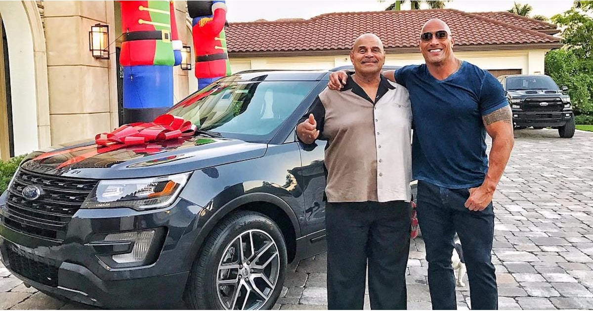 Dwayne Johnson Buys Dad a Car For Christmas 2016