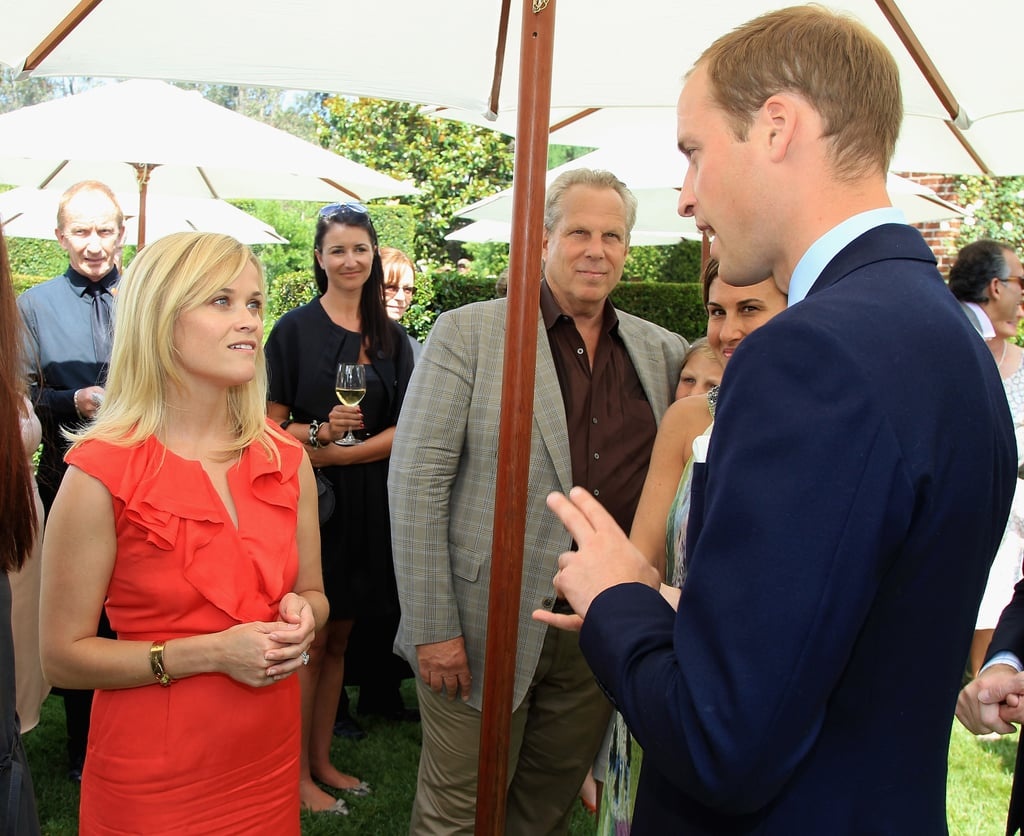 Prince William attended a reception in July 2011 to mark the launch of Tusk's US Patron Circle in Beverly Hills, where he met Reese Witherspoon.