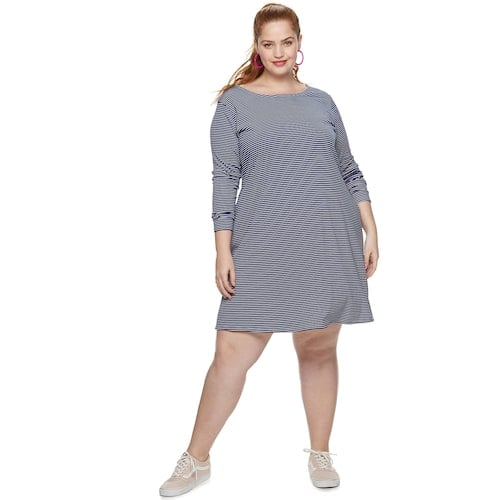 POPSUGAR Collection at Kohl\'s Plus Size A-Line Dress | Chic Summer ...