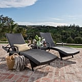 Carlsbad Wicker Chaise Lounge With Arms & Table 3-Piece Set