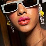 Two-Toned Glitter Lips at Vivetta Spring 2020