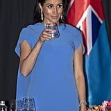 Meghan Markle Blue Safiyaa Dress in Fiji October 2018