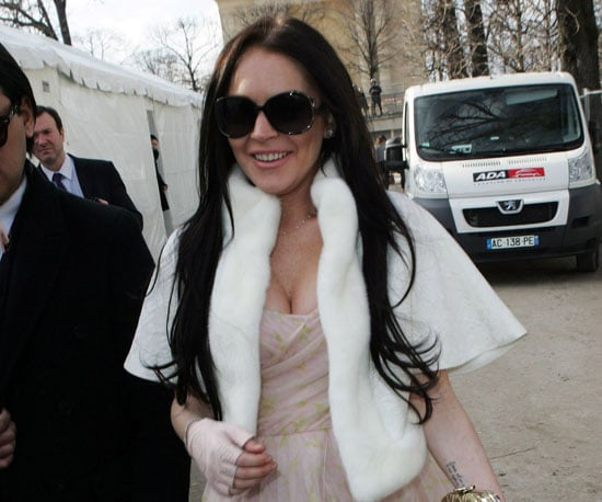 Slide Photo of Lindsay Lohan at Paris Fashion Week