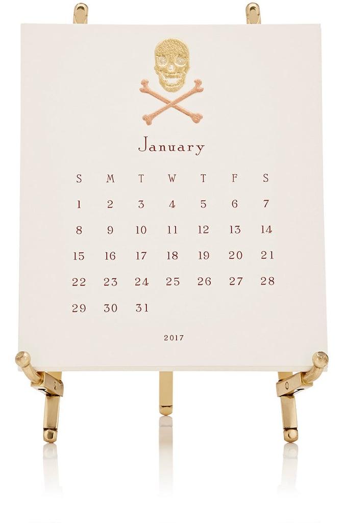 Connor 2017 Skull & Crossbones Easel Calendar ($135)