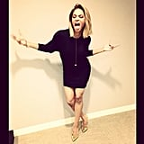 Ciara snapped a silly pic before her appearance on Chelsea Lately. Source: Instagram user ciara