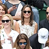 Carole, Pippa, and James Middleton at Day 13 of Wimbledon