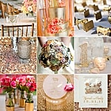 Hoping to strike gold with your big-day decor? POPSUGAR Home has rounded up a range of gold-star ideas to help you incorporate the shade into your wedding design — and you may be surprised by its versatility.