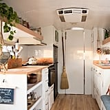 Here's a look at the bus's kitchen.