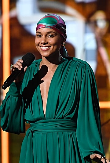 Alicia Keys No Makeup Grammys 2019