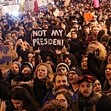 November: Anti-Trump protesters shut down 5th Avenue in New York after he was elected President on November 8.