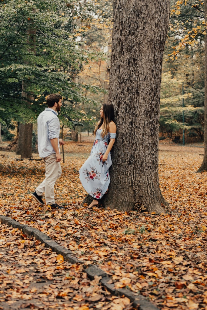 Fall Leaves Engagement Shoot