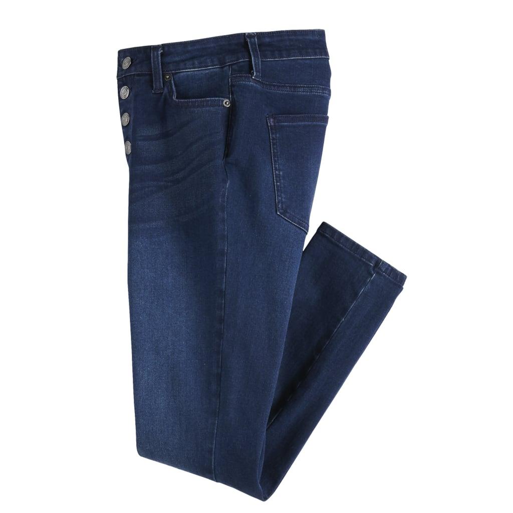 POPSUGAR Raw-Edge High-Waisted Skinny Ankle Jeans