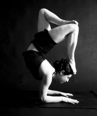 YOGA CHALLENGE:  Scorpion With a Broken Tail