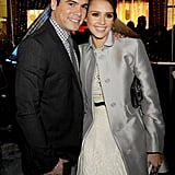 Cash Warren and Jessica Alba stepped out for a Swarovski party on Rodeo Drive.