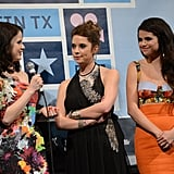 Rachel Korine talked to Ashley Benson and Selena Gomez during the SXSW premiere.