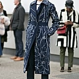 With a Patterned Duster and Colorful Boots