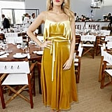 For a Café Society lunch on day two, Blake Lively chose a yellow Valentino dress.