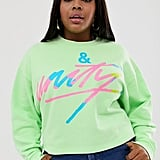 ASOS DESIGN x glaad Curve cropped sweatshirt with tour print