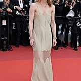 Vanessa Paradis slipped into a slinky gown at The Unknown Girl's premiere.