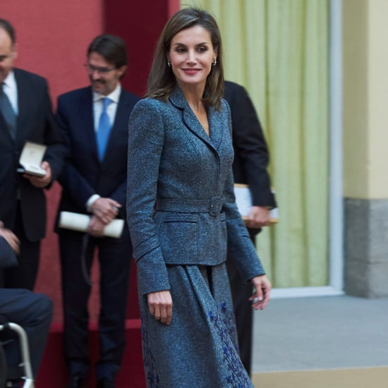 Queen Letizia Gray Felipe Varela Skirt Suit