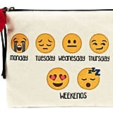 Twig + Arrow Emoji Day Canvas Pouch