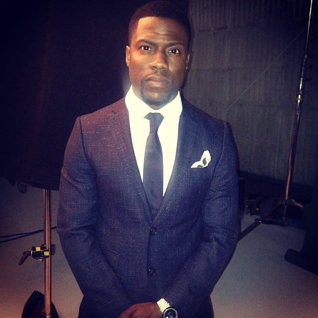 Kevin Hart was all business in a sleek suit on the set of a photo shoot. Source: Instagram user kevinhart4real