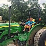 Arabella Kushner looked right at home on the big John Deere tractor —or maybe she was getting involved in the family business. Source: Instagram user ivankatrump