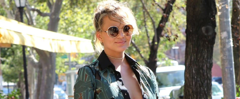 We See Chrissy Teigen's Amazing Dress, But We're More Focused on Her Diaper Bag