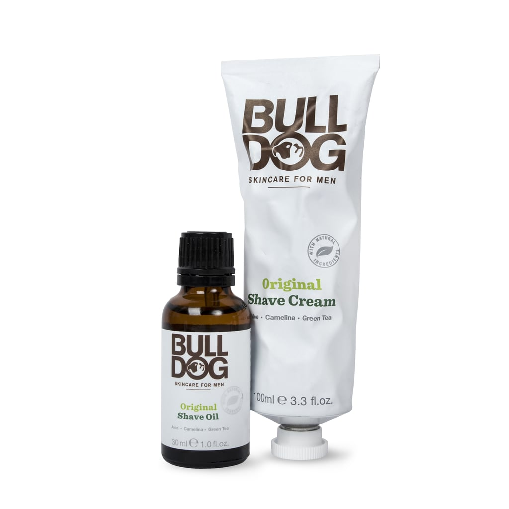 Bulldog Original Shave Oil (£6) and Bulldog Original Shave Cream (£4)