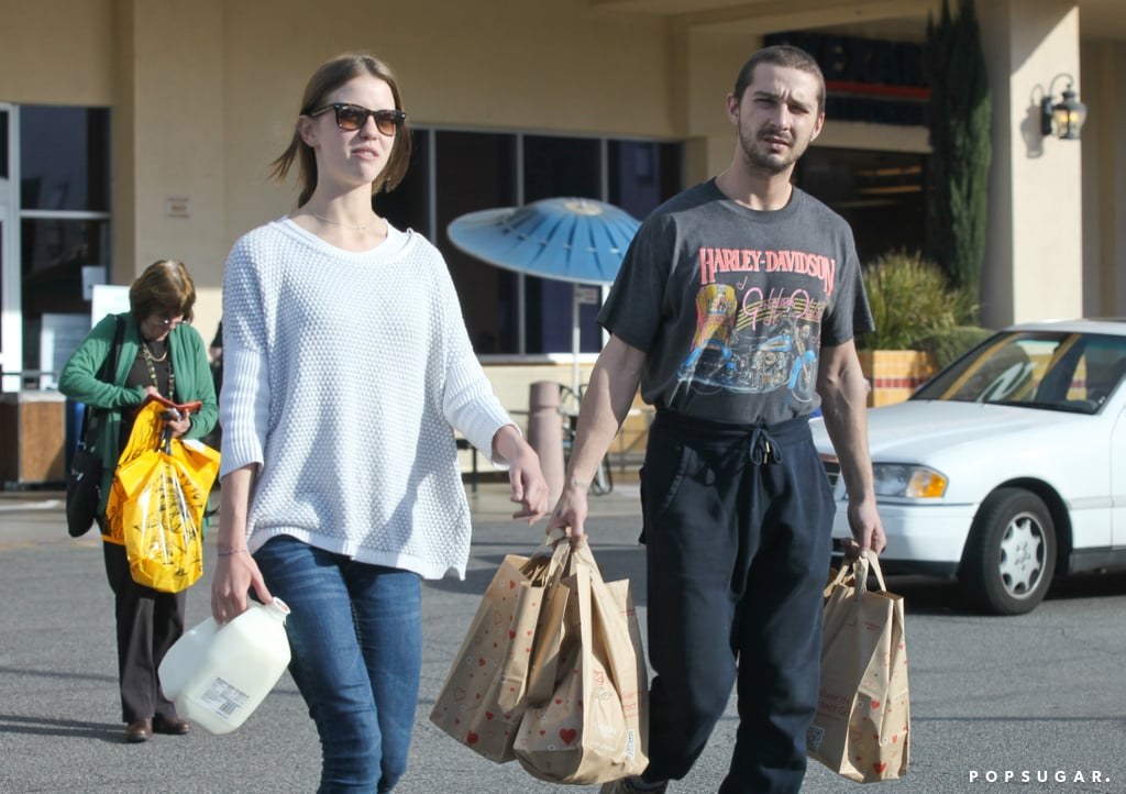 Shia LaBeouf surfaced in LA on Monday afternoon in the company of his girlfriend, Mia Goth. On Sunday night he wrapped up his bizarre and unsettling performance art exhibition, but things already seem to be getting back to normal . . . sort of. Aside from getting smoothies and taking care of shopping, Shia also commissioned another round of skywriting, which he tweeted about below: #startcreating pic.twitter.com/vWTmbCUZWe— Shia LaBeouf (@thecampaignbook) February 17, 2014    We all know how 2014 has treated Shia so far, with the seemingly endless claims of plagiarism and the ruckus he raised in Berlin. Even at the end of his exhibition, which was widely reviewed as raw and emotional, Shia reportedly embraced fans who were waiting in line after his performance piece concluded.