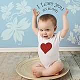 Valentine's Day Baby Body Suit and Baby Bag ($24)