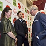With Olivia Colman and Prince Charles.