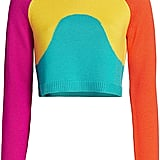 Victor Glemaud Intarsia Crop Multicolored Crew