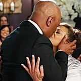 They have their first kiss as man and wife in the hospital that brought them together. Doesn't get any sweeter than that, does it?