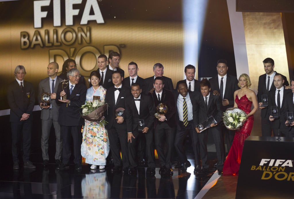Shakira attended the Zurich FIFA Ballon d'Or ceremony.