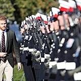 Prince Harry Visits the Royal Marines September 2018