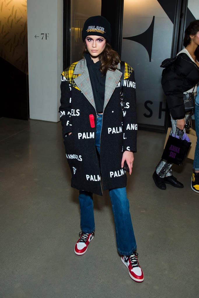 On Day 5, Kaia Posed Backstage at the Anna Sui Show After Having Walked For the Designer